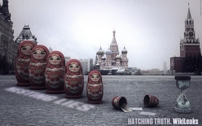 Wallpaper Moscow, the Kremlin, dolls, WikiLeaks, red square, freedom of speech