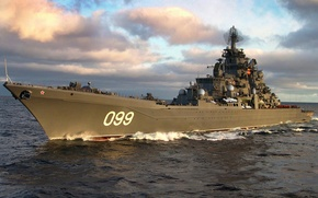 "Picture Navy, cruiser, Atomic, The Northern Fleet, ""Eagle"", ""Peter the Great"", the project 1144"