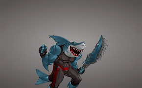 Picture weapons, minimalism, fish, shark, sword, mutant, shark, fish, hook, toothy