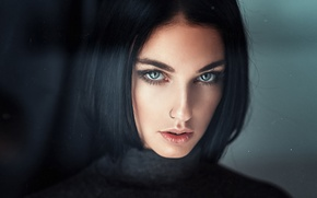 Picture Girl, Look, Face, Hair, Portrait, Black, Alla Berger