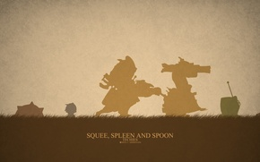 Picture spoon, hero, Defense of the Ancients, DotA 2, squee, spleen, Techies, miner, TACIS, goblins