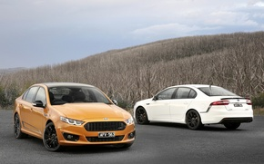 Picture Ford, White, Orange, Falcon, Cars, 2014, AU-spec (FG)