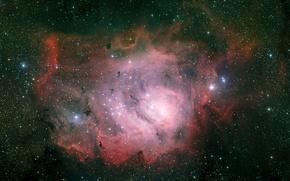Picture nebula, Laguna, Sagittarius, constellation, NGC 6523
