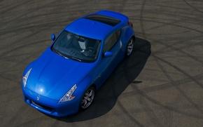 Picture nissan, blue, 370z, hood