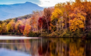 Picture autumn, landscape, mountains, nature, lake
