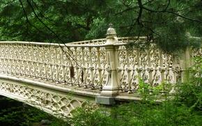 Picture bridge, New York, bridge, New York, Central Park, Central park