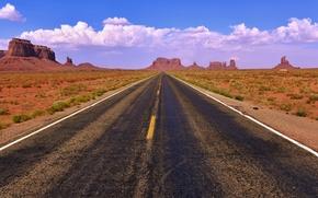 Picture road, summer, landscape, rocks