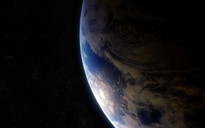 Picture stars, planet, Earth