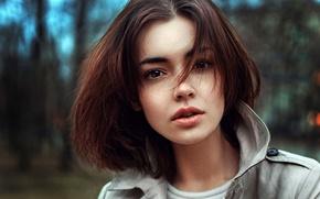 Wallpaper portrait, brown-eyed, George Chernyadev, Lida