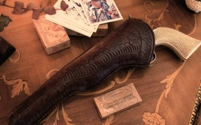 Wallpaper card, weapons, revolver, cowboys, Cabourg, former