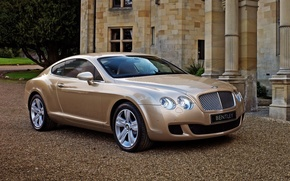 Picture Bentley, Parking, beige