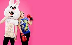 Wallpaper pink, dead, drop, rabbit