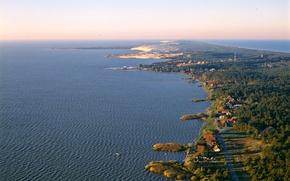Picture sea, coast, horizon, braid, Lithuania, Nida