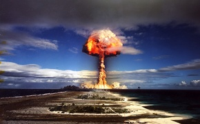 Picture 156, color photo, a nuclear explosion