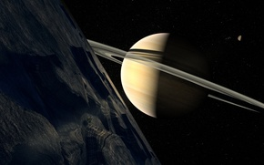 Picture planet, Saturn, art