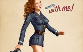 Wallpaper figure, pilot, form