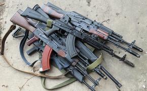 Picture weapons, Kalashnikov, a lot