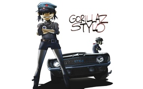 Picture machine, music, group, Chevrolet, Camaro, gorillaz, noodle, Gorillaz, stylo, Readers.