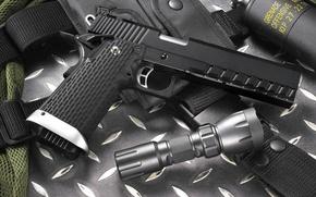 Picture gun, weapons, pomegranate, flashlight, kp-06