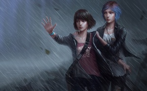 Picture Rain, The storm, Rain, Max, Price, Chloe, Chloe, Max, Life Is Strange, Caulfield, Caulfield, Price