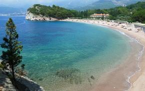 Picture mountains, Adriatica, Montenegro, Royal beach, Villa Milocer