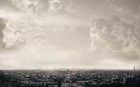 Picture clouds, the city, Paris