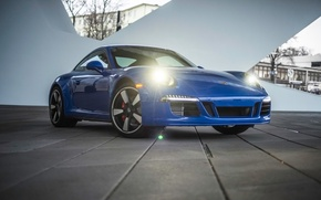 Picture blue, 911, Porsche, Porsche, the front, GTS, Club Coupe