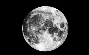 Picture moon, satellite, natural