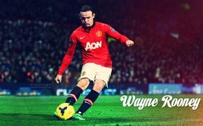 Wallpaper red, football, Rooney, Manchester united, devil, Wayne