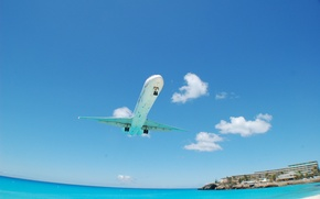 Wallpaper the hotel, landscapes, hotels, home, sea, beaches, water, the ocean, aviation, aircraft