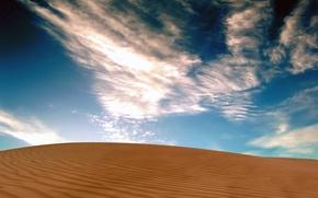 Wallpaper Desert, the sky, sand