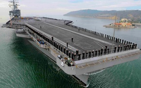 Picture nuclear, aircraft carrier, navy, nuclear aircraft carrier, Weapon: Sea Sparrow Missile, Draught: 76 m, 000 …