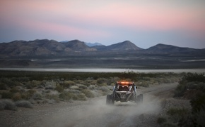 Picture sunset, desert, desert, sunset, buggy, baggi