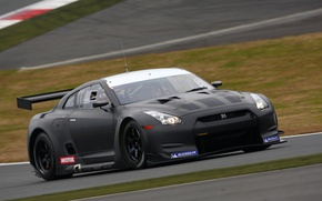 Picture race, speed, nissan, track, gtr