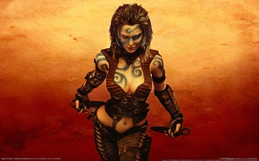 Picture girl, dagger, Age Of Conan: Hyborian Adventures