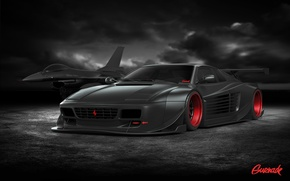 Picture Ferrari, Cars, Tuning, Battle, Ready, by Gurnade, 512TR