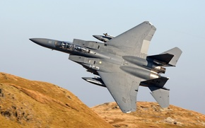 Wallpaper fighter, Eagle, flight, F-15E, McDonnell Douglas
