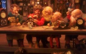 Wallpaper Christmas, Watch, dwarves, raccoon