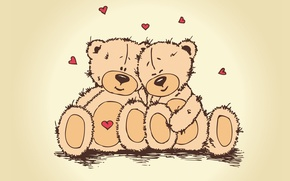 Picture love, heart, bear, pair, Valentine's day, Teddy, teddy bear, valentines day