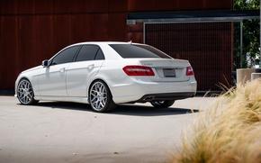 Picture white, Mercedes, white, E-class, Mercedes, E550