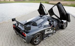 Picture black, McLaren, the car, hypercar, racing