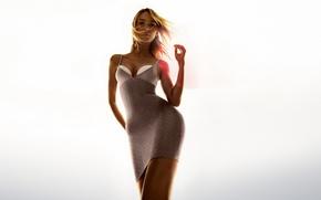 Picture girl, model, dress, blonde, hip, sexy, Adriana Cernanova