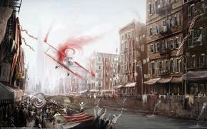 Picture the city, the plane, tape, victory, home, channel, artem borisov