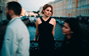 Wallpaper girl, the city, Elena, passers-by, Ivan Proskurin