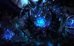 Picture wings, the demon, art, Dota 2, Terror blade, Demon Marauder