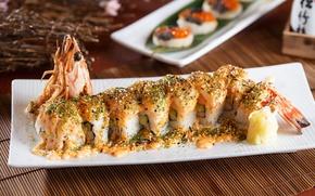 Picture figure, sushi, shrimp