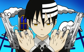 Picture weapons, guns, vector, Anime, soul eater, Death Jr., Death The Kid, Kid