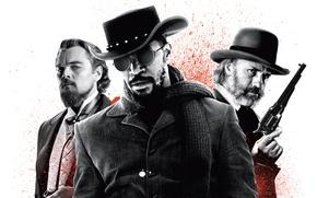 Picture weapons, Western, Leonardo DiCaprio, Django Unchained, Quentin Tarantino, Jamie Foxx, Christoph Waltz, Django unchained