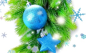 Picture decoration, balls, New Year, Christmas, Christmas, balls, New Year, decoration