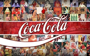 Picture background, logo, advertising, drink, classic, Coca-Cola, brand